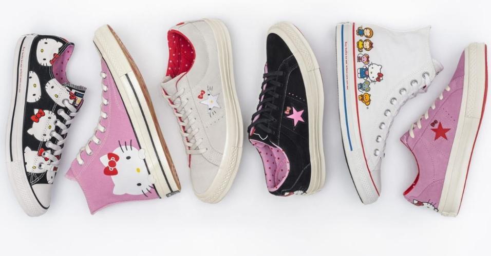 125e57e8c Converse lança coleção de tênis inspirados por Hello Kitty; veja modelos -  Entretenimento - BOL Notícias