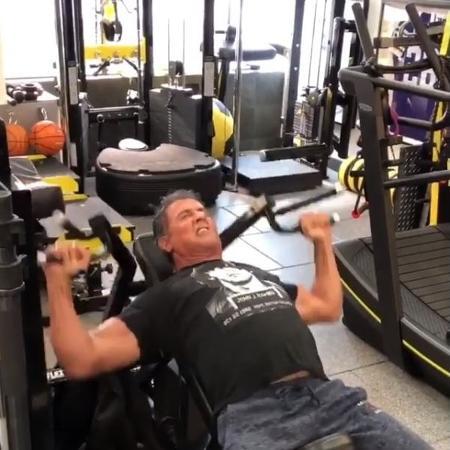 "Sylvester Stallone treina para protagonizar ""Rambo 5"" - Reprodução Instagram"