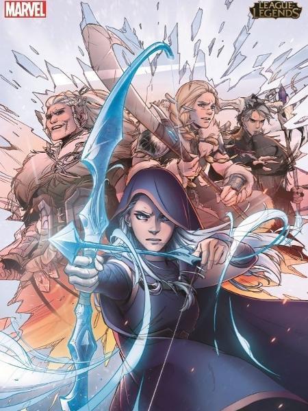 """Capa da graphic novel """"Ashe: Mãe Guerreira"""", parceria da Marvel com a Riot Games - Divulgação"""