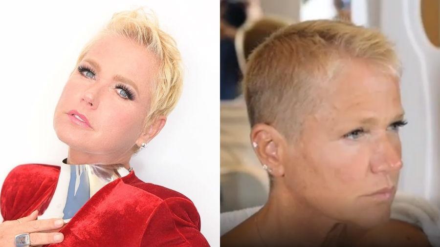 Xuxa antes e depois de mudar os visual: cabelos raspados bem curtinhos - Reprodução/Instagram