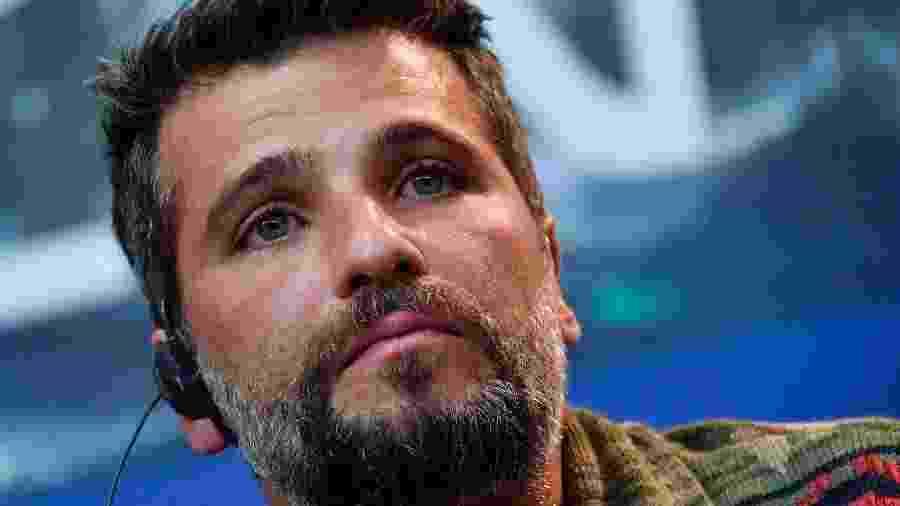 """Bruno Gagliasso se emociona em coletiva do filme """"Marighella"""", no Festival de Berlim - AFP"""
