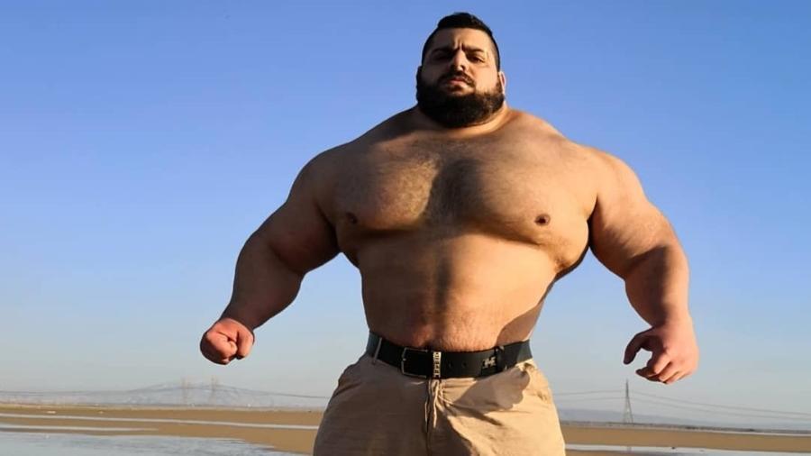Hulk do Irã ganhou fama entre brasileiros - Reprodução/ Instagram