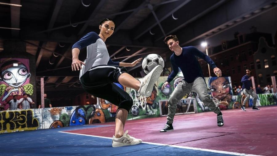 """O modo VOLTA de """"FIFA 20"""" busca inspiração no futebol de rua em diferentes lugares do mundo - Divulgação"""