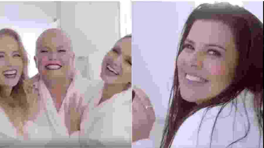 Campanha com Angélica, Xuxa e Eliana e a versão só com Mara Maravilha - Reprodução/Instagram
