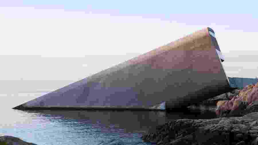 Restaurante subaquático localizado na Noruega - Divulgação