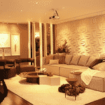 Sala de estar íntima inspirada no cantor Ivan Lins - Divulgação