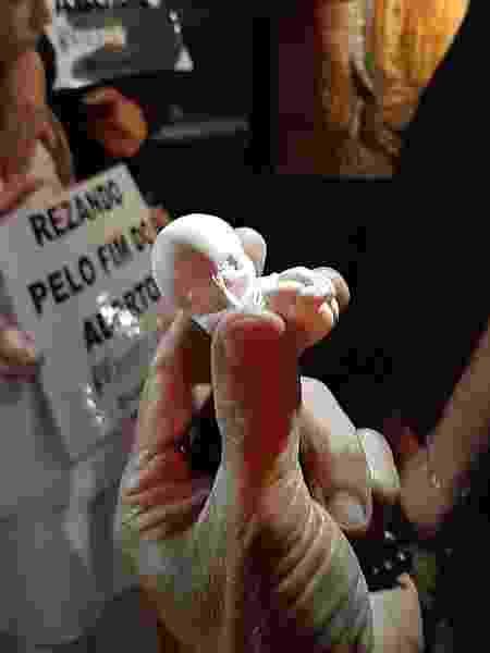 Feto do grupo contra o aborto legal - Reprodução - Reprodução