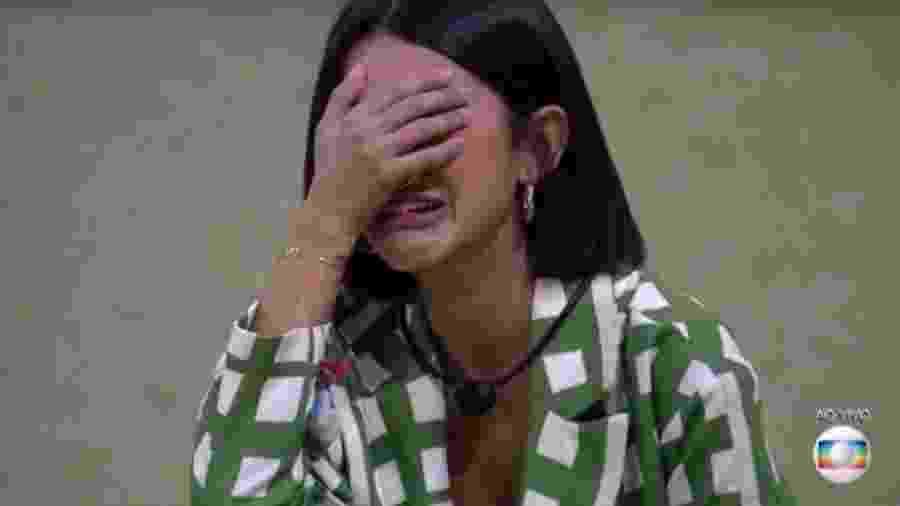 Manu chora após vitória no paredão - Reprodução/TV Globo