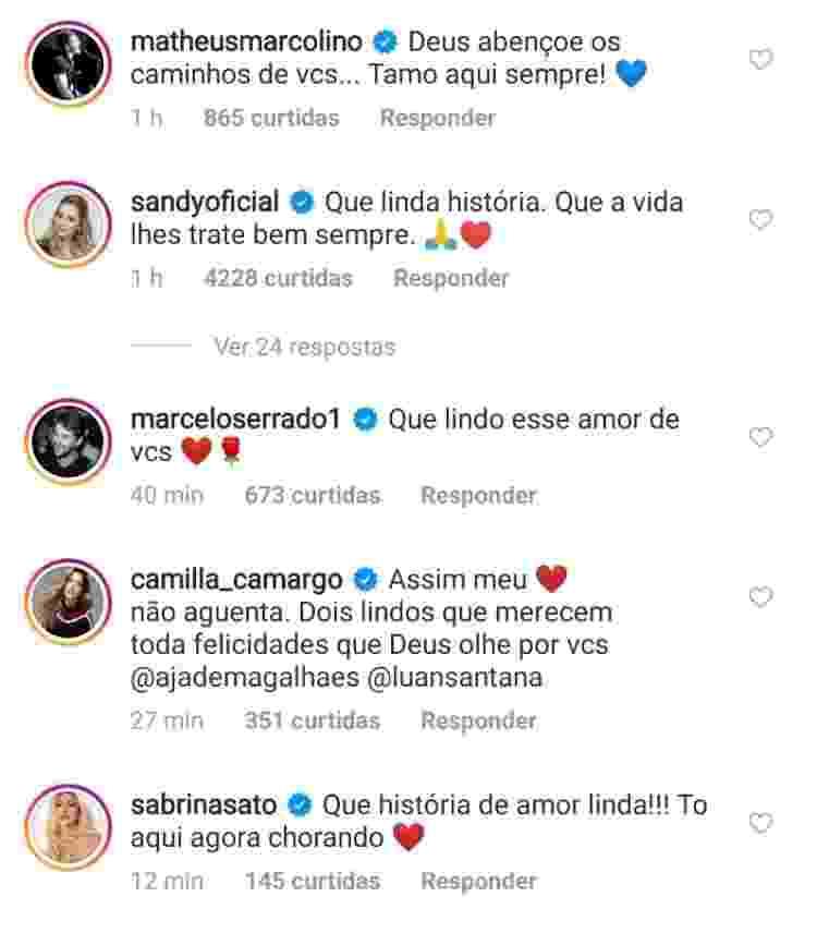 Famosos comentam Luan Santana - Reprodução - Reprodução