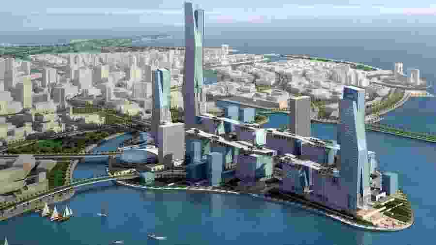 Projeto da cidade saudita de Neom - Divulgação