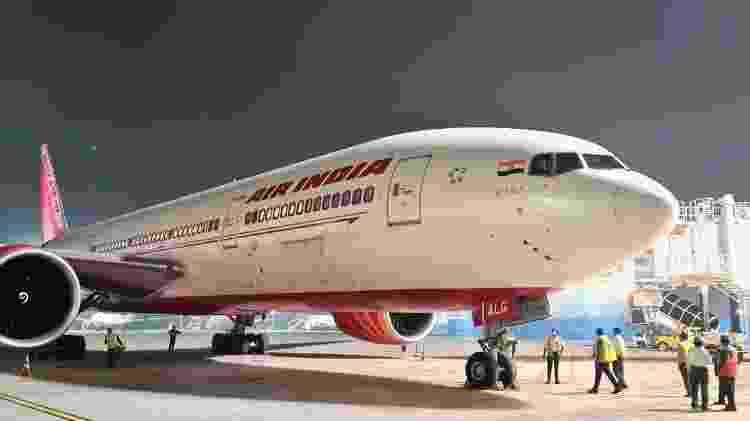 Avião que cruzou o caminho mais longo na história da aviação indiana - Reprodução Twitter - Reprodução Twitter