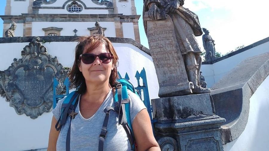 Marcia Reis em Congonhas, Minas Gerais - Arquivo pessoal