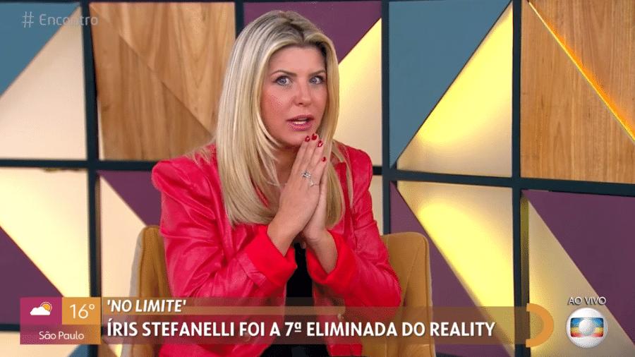 Íris Stefanelli  relatou assalto no sábado (18) e que bandidos acessaram conta bancária - Reprodução / TV Globo