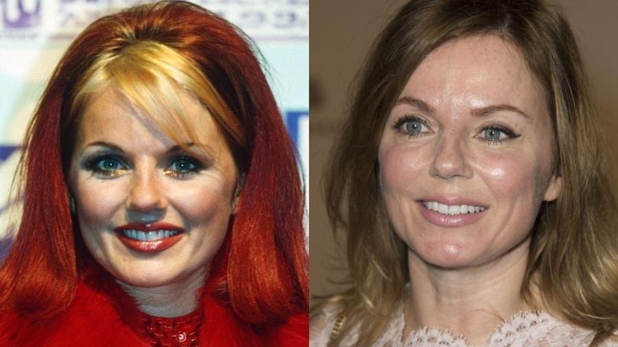O antes e depois de Geri Halliwell, das Spice Girls - Reprodução/Montagem