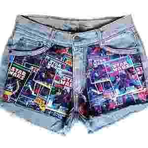 Hot pants jeans, da Elo7. Preço: R$ 99,90. Informações: www.elo7.com.br | Preço e disponibilidade pesquisados em dezembro de 2015 e sujeitos a alterações - Divulgação