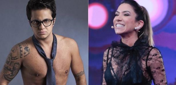 O ator Thammy Miranda e a apresentadora Patricia Abravanel - Montagem/UOL