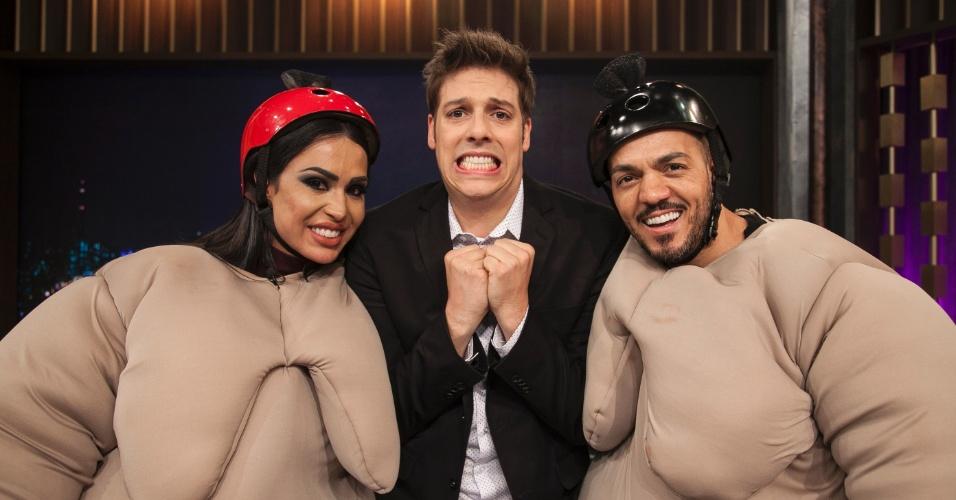 "Gracyanne e Belo participam do ""Programa do Porchat"""