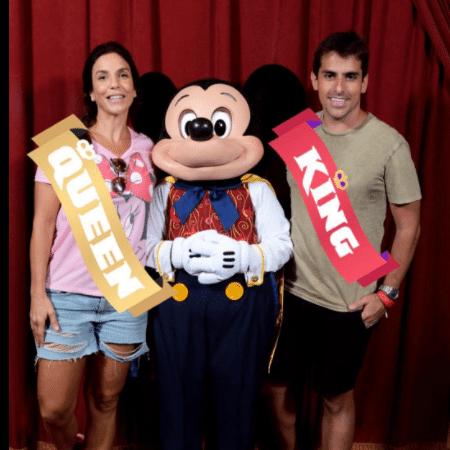 Ivete Sangalo posa com Mickey em passeio na Disney - Reprodução/Instagram