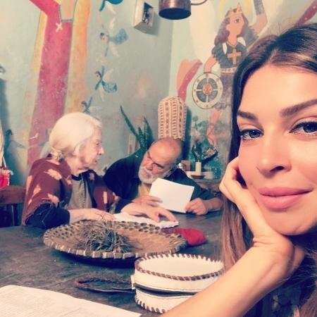 Grazi Massafera mostra bastidores da novela com Fernanda Montenegro e Lima Duarte - Reprodução/Instagram