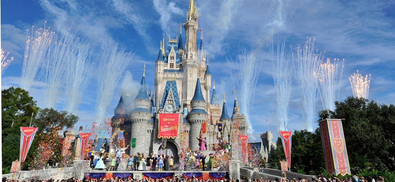 O parque Magic Kingdom, no Walt Disney World, em Orlando - Getty Images