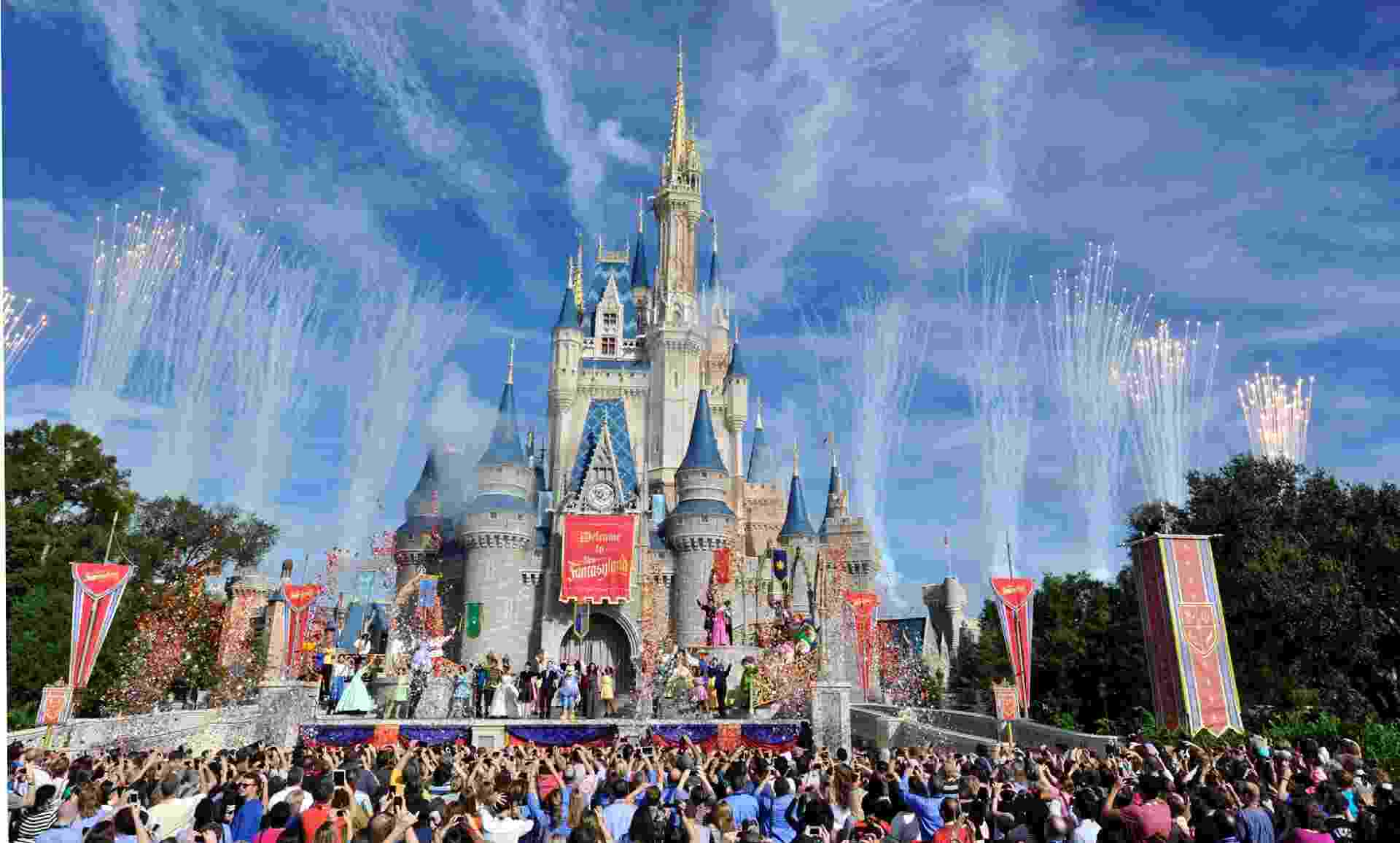 O castelo da Cinderela, no Walt Disney World - Getty Images