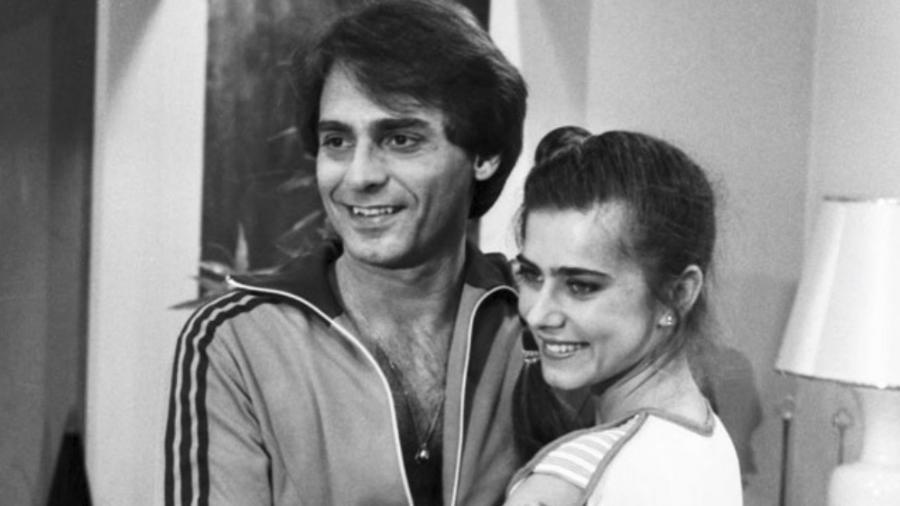 """O ator João Paulo Adour e a atriz Maitê Proença na novela """"As Três Marias"""" (1980) - Divulgação/Memória Globo"""