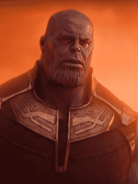 """Thanos (Josh Brolin) em cena de """"Vingadores: Guerra Infinita"""" - Reprodução"""