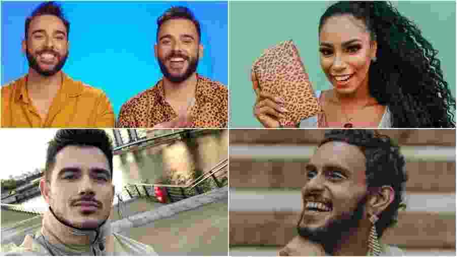 """Lucas, Marcel, Ray, JP e Dumaresq: finalistas do """"The Circle Brasil"""" - Instagram/Reprodução"""