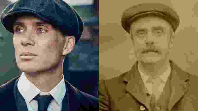 Cillian Murphy, que vive personagem inspirado em Thomas Gilbert - Reprodução/Montagem - Reprodução/Montagem