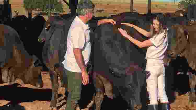 Amalia e Ricardo: família ligada à pecuária - Divulgação - Divulgação