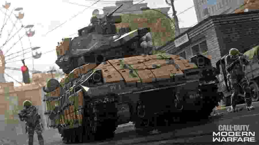 """Call of Duty Modern Warfare fez barulho no lançamento, mas explodiu com o inovador battleroyale """"Warzone"""" - Divulgação/Activision"""