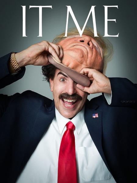 Sasha Baron Cohen tira máscara de Trump - Reprodução - Reprodução