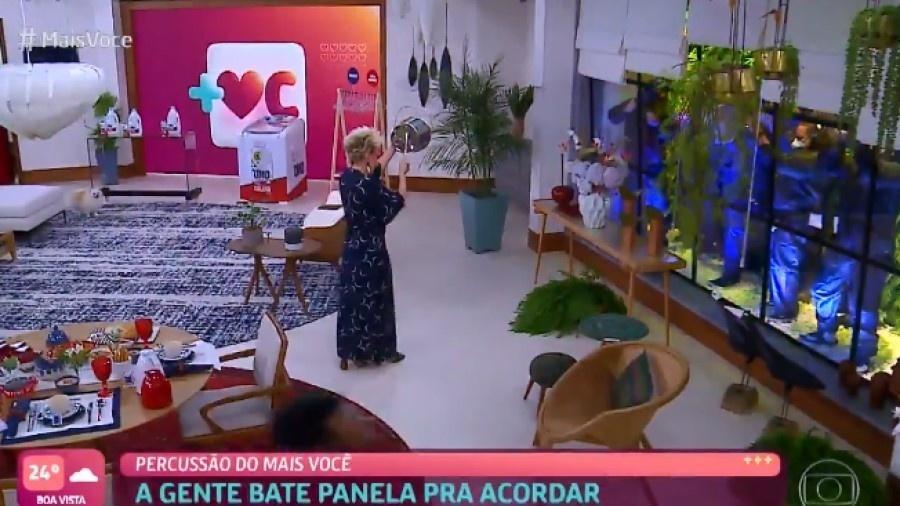 """Ana Maria Braga fez panelaço no """"Mais Você"""", mas não citou presidente Jair Bolsonaro (sem partido) - Reprodução/TV Globo"""