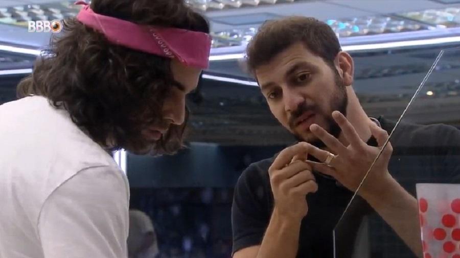 BBB 21: Caio e Fiuk falam sobre votar em Pocah no 12º paredão - Reprodução/Globoplay