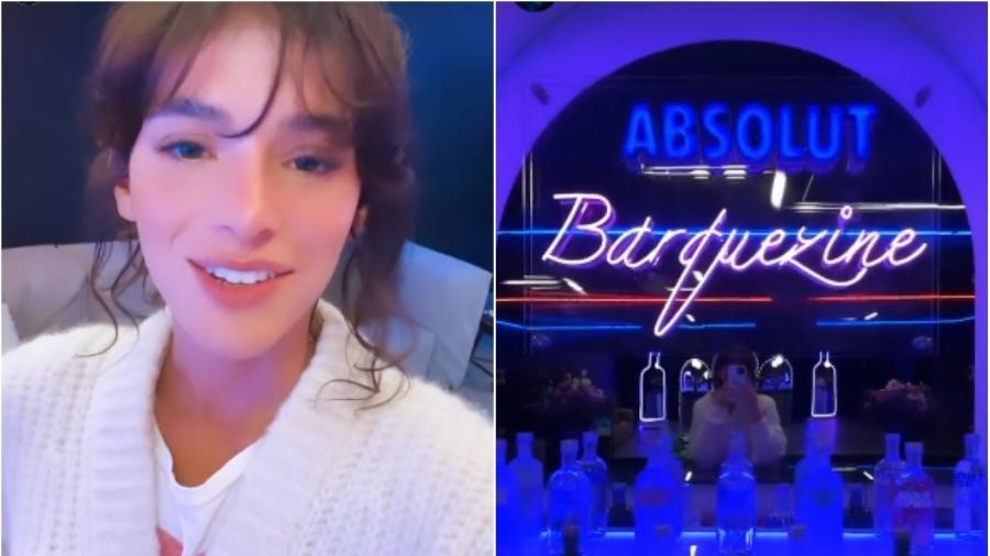 """Bruna Marquezine mostra bar montado em sua garagem, o """"Barquezine"""" - Reprodução/Instagram"""