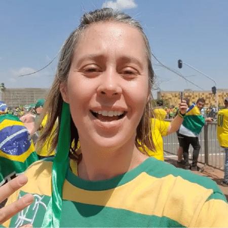 Dani Monteiro postou vídeo em manifestação de 7 de setembro a favor de Bolsonaro, em Brasilia - Reprodução/Instagram