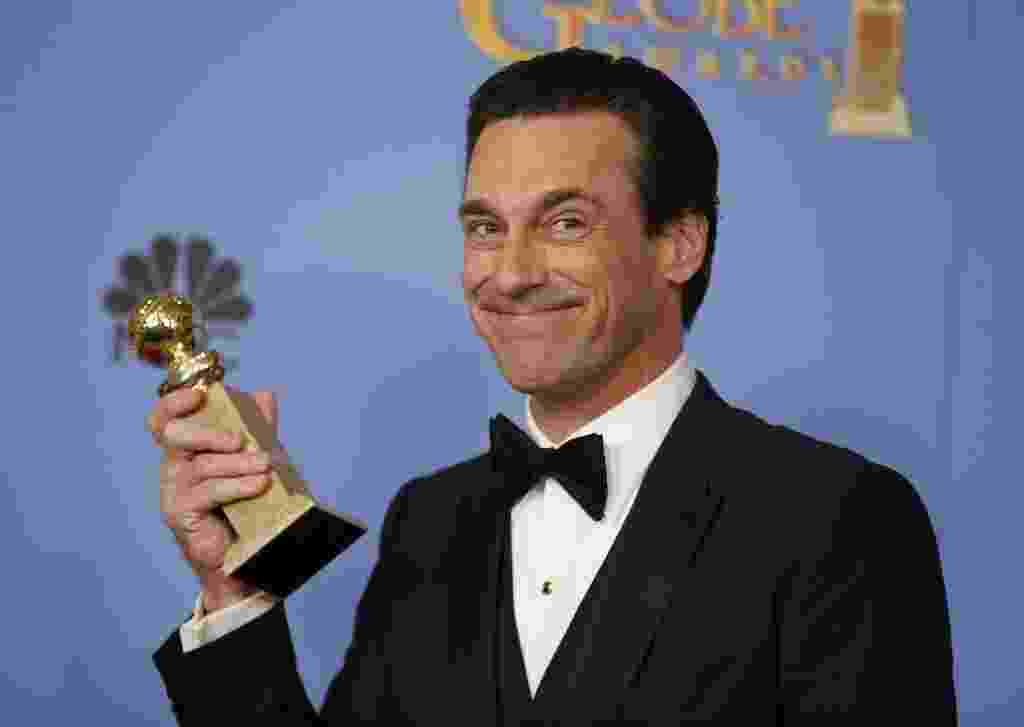 10.jan.2016 - Jon Hamm no Globo de Ouro 2016 - Reuters