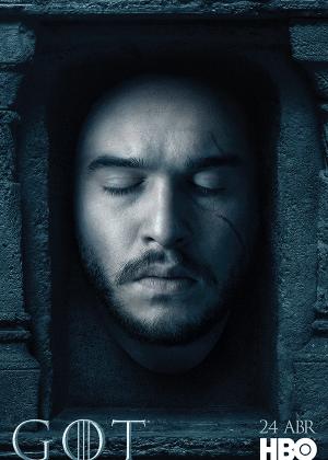 """Kit Harington em cartaz de """"Game of Thrones"""" - Divulgação/HBO"""