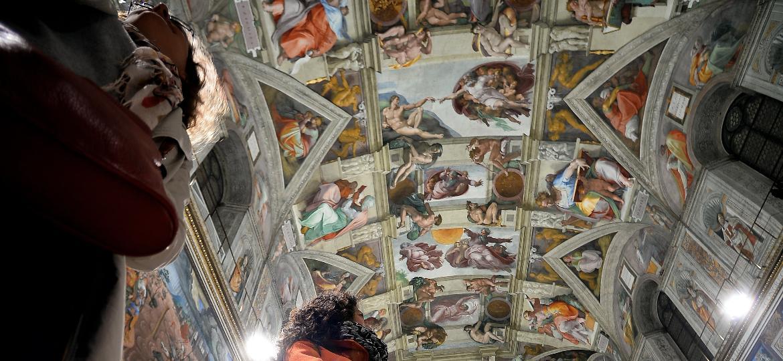 Teto da Capela Sistina, no Vaticano - Filippo Monteforte/AFP