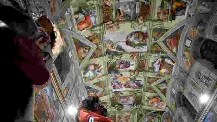 Teto da Capela Sistina, no Vaticano - Filippo Monteforte/AFP - Filippo Monteforte/AFP