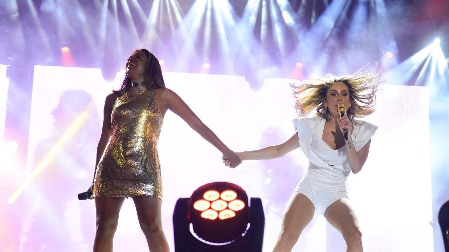 Claudia Leitte já dividiu o palco com Anitta em show em Salvador - André Muzell/Brazil News