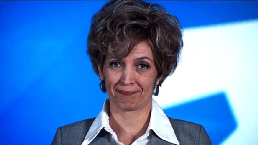 """Poliana Abritta aparece """"envelhecida"""", aos 80 anos, para divulgar reportagem do """"Fantástico"""" - Reprodução/TV Globo"""