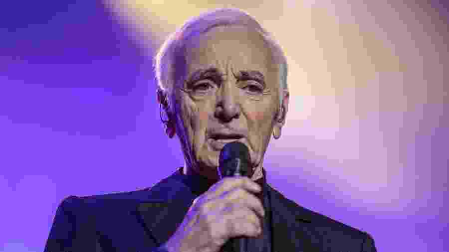 O cantor francês Charles Aznavour - Divulgação