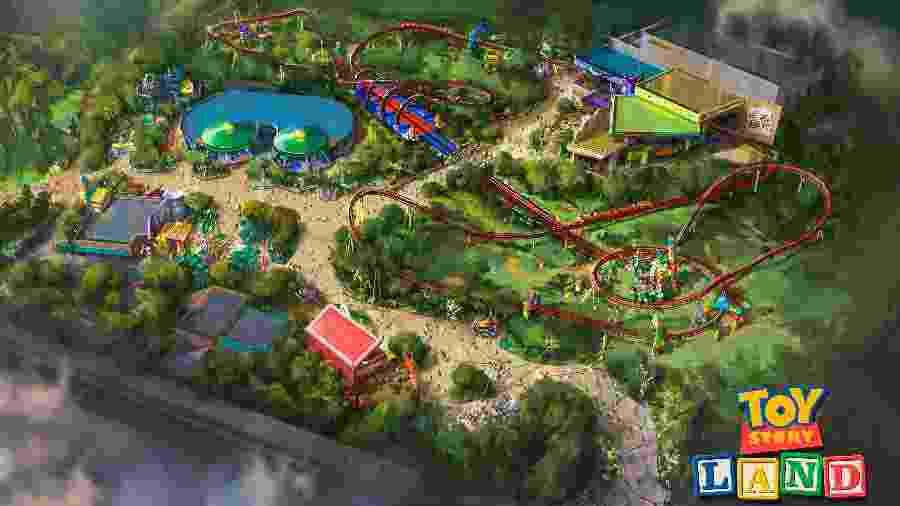 Projeção mostra a Toy Story Land, nova área do Hollywood Studios - Divulgação