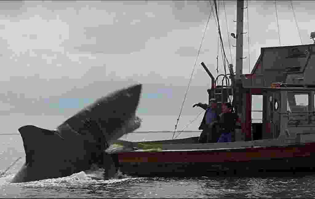 """Roy Scheider e Robert Shaw em """"Tubarão""""(1975) - Divulgação"""