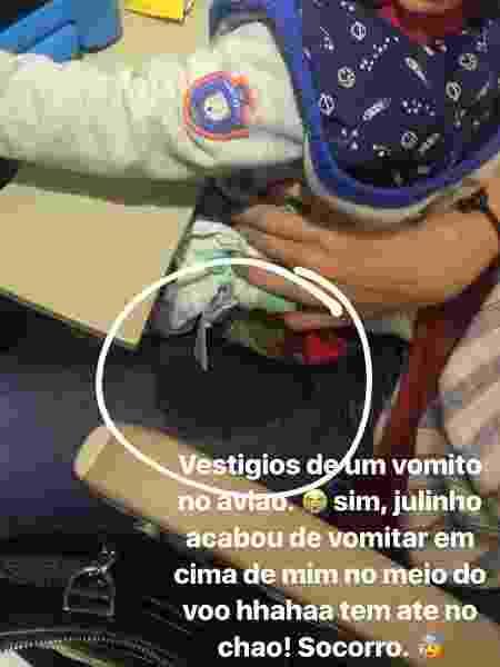 Bruna Hamu avião 2 - Reprodução/Instagram - Reprodução/Instagram