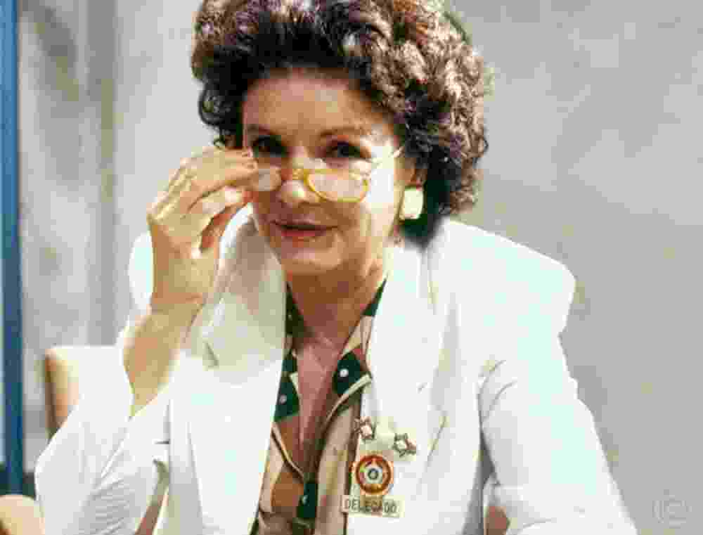 """A atriz Eloísa Mafalda no seriado """"Delegacia de Mulheres"""" (1990) - Divulgação/Globo"""