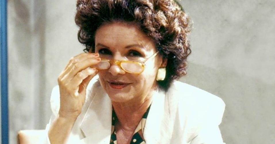 "A atriz Eloísa Mafalda no seriado ""Delegacia de Mulheres"" (1990)"
