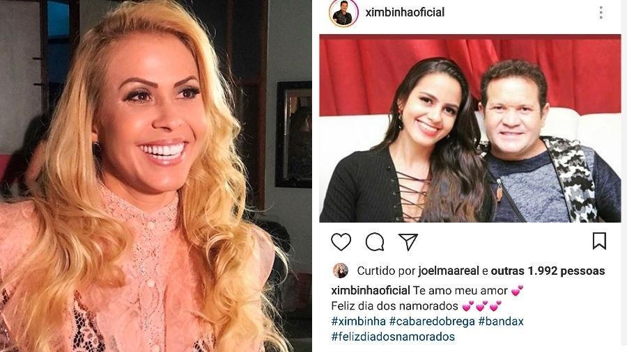 Joelma curte foto de Ximbinha coma  namorada - Reprodução/Instagram