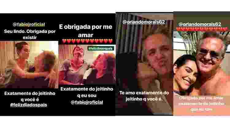 Cleo homenageia Fabio Jr e Orlando Morais com a mesma mensagem - Reprodução / Instagram - Reprodução / Instagram